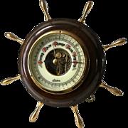SOLD Vtg Linden Barometer Ships Wheel Weather Station West Germany