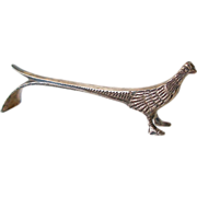 Sterling Pheasant Knife Rest Silver by Birks