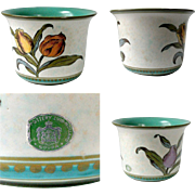 1953 Gouda Royal Zuid Tulip Floral Irene Planter Holland No 2810 17 Green White 1950's
