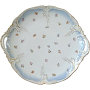 RC Rosenthal Sanssouci Handled Cake Plate Platter 11in Gold Trim All Over Small Multi Color ..