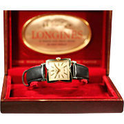 LONGINES - Wide Flared Case - 14K Gold Men's Watch 1953