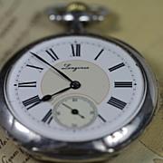 SOLD Longines 1912 Sterling Silver 5 Grand Prix Pocket Watch