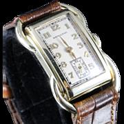 Hamilton Rare Solid 14K Gold Bentley Wristwatch circa 1937