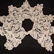 SALE Old Battenberg Lace Dress Collar