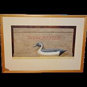 American Painting: Decoy w Ammunition Box - Signed
