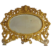 Bradley and Hubbard Cast Iron Framed Mirror