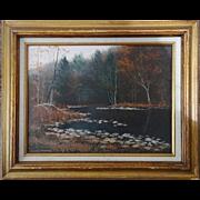 Autumn Landscape Oil Painting - Signed