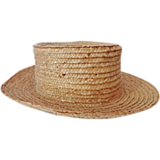 REDUCED Old Amish Boy's Straw Hat