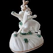Antique Porcelain Stag Hart Figurine 1820-50