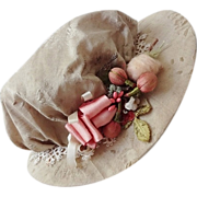 Bebe Fashion Doll Silk and Tatted Lace Hat