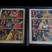 Old ABC Alphabet Chromolithograph Prints Set