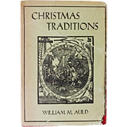 SOLD Christmas Traditions by William Muir Auld Book