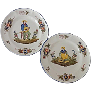 Vintage St. Clement French Faience Plates