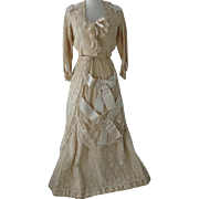 SOLD Victorian Schiffli Lace Wedding Evening Gown
