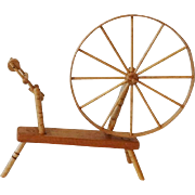 Dollhouse Shaker Spinning Wheel by Chestnut Hill Studio - Signed