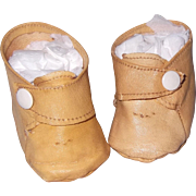 Effanbee Factory Oil Cloth Shoes for Lovums or Sugar Baby Composition or Bisque Doll