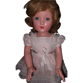 """27"""" Effanbee factory Little Lady Composition Doll"""
