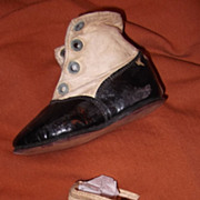 Early leather boots shoes for your bisque or composition large doll