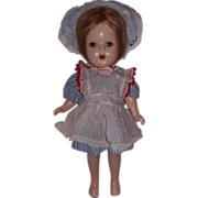 """SALE Adorable 13"""" unmarked Composition Doll"""