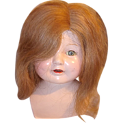 Human Hair Wig for Composition or Bisque Doll