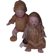 Candy Baby Set of Twins German Bisque Dolls