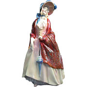 "SALE Royal Doulton ""Paisley Shawl"" HN1987 porcelain figurine - signed - made in Engl"