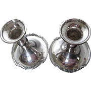 "Vintage Uniquely designed SF Co. EPC Silverplate 1110 4 3/4"" Candle stick Holders - Early"