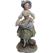 "Vintage Andrea by Sadek 8991 Colonial Lady 8"" Figurine - Japan"