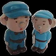 Rare Vintage Set of 2 Buddy L Plastic figures/dolls -signed - 1950-60's era