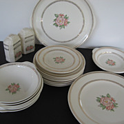 Cronin Casuals 22 pc. set of Ovenware 22 karat Gold Floral pattern - 1945 era