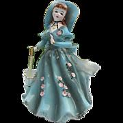 """1957 Geo. L. Lefton """"Southern Belle"""" Porcelain Planter figurine #164 - signed"""