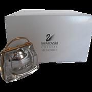 Swarovski Crystal Secrets Handbag Clock Memories Austria Figurine