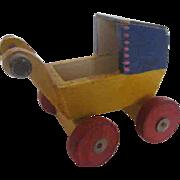 Handmade - Hand-painted Wood Dollhouse Buggy