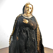 NEAPOLITAN Painted Terracotta, Wood Paper Mache Mae Dolorosa 12""