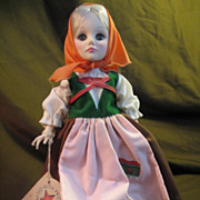 """EFFANBEE  Vintage 11"""" Doll With Tag, # Back of Head 1974"""