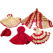 2 Crocheted Dresses with 3 Coverups