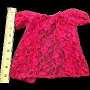 Beautiful Lace Peingoir Red Robe