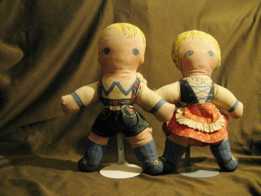 1900's Vintage Lithograph Hansel and Gretel Cut-Out Dolls