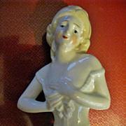 "Vintage German Blond Half Doll 4"""