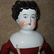 Antique German China Head Exposed Ears