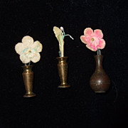 Dollhouse Brass Vases