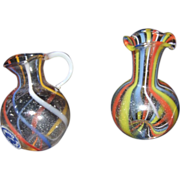 Miniature German Blown Glass Pitcher and Vase