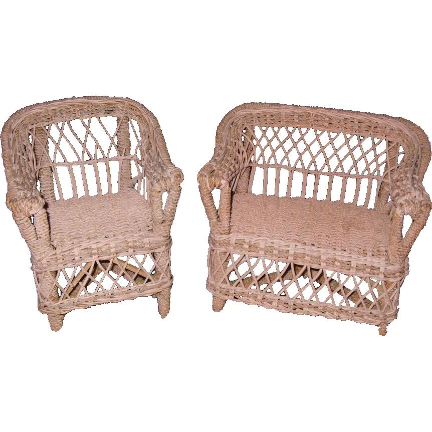Antique Victorian Wicker Furniture