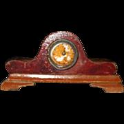 Vintage Dollhouse Miniature Wood Mantle Clock