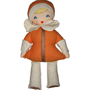 American Made Cloth Flapper Type Doll