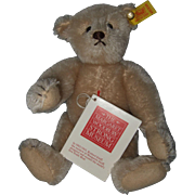 Small Mohair Steiff Bear made for The Margaret Woodbury Strong Museum