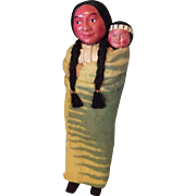 Skookum Type Indian Doll with Papoose
