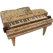 """!950""""s Perfume Container in the Shape of a Piano"""