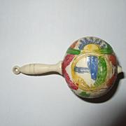 Miniature  Vintage Celluloid Doll Rattle