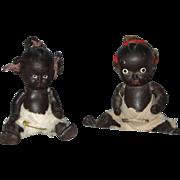 Pair of Japanese Black Babies